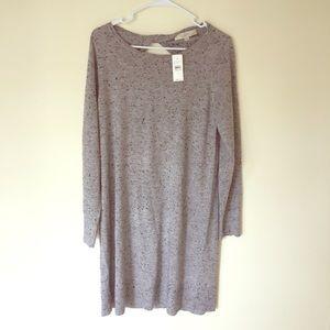 3f5e1fe0145 ... LOFT Flecked Cutout Back Sweater Dress ...